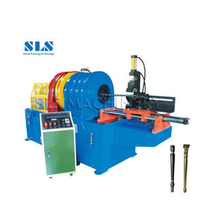 Cold Spinning Type Flower Pipe Shaping Machine Semi Automatic Metal Tube Embossing Machine