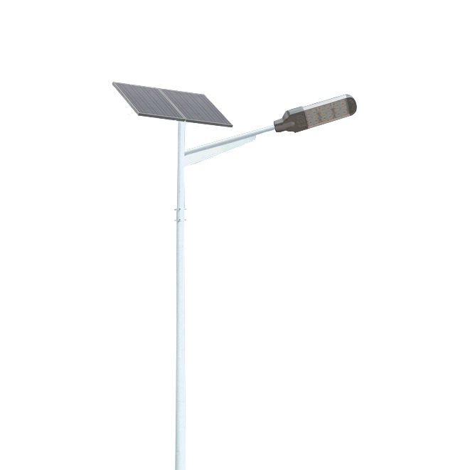 100 watt outdoor led solar street light with pole retro garden application