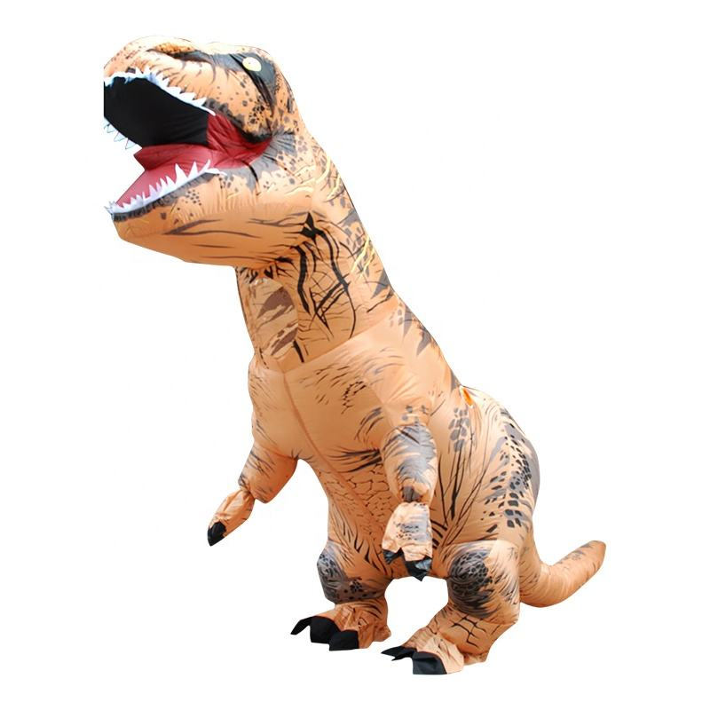 TOP 1 selling inflatable walking t-rex costume adult dinosaur costume t rex