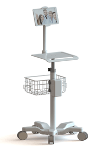 Shenzhen Supplier Custom Adjustable Endoscope Trolley   medical monitor stand
