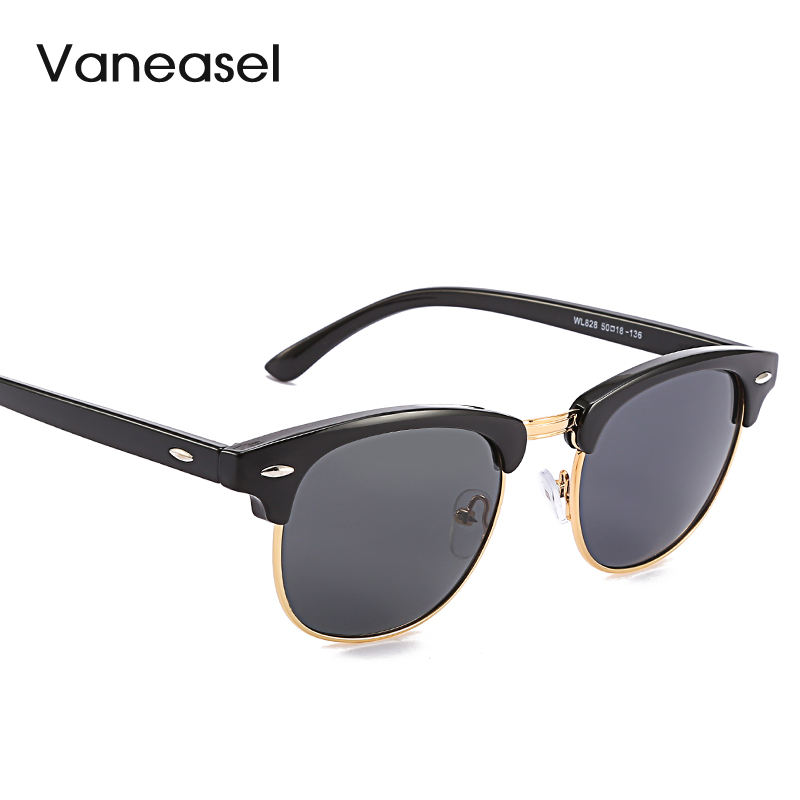 Classic European and Smerican fashion ray band sunglasses square semi-frame sun glasses with mirror lens