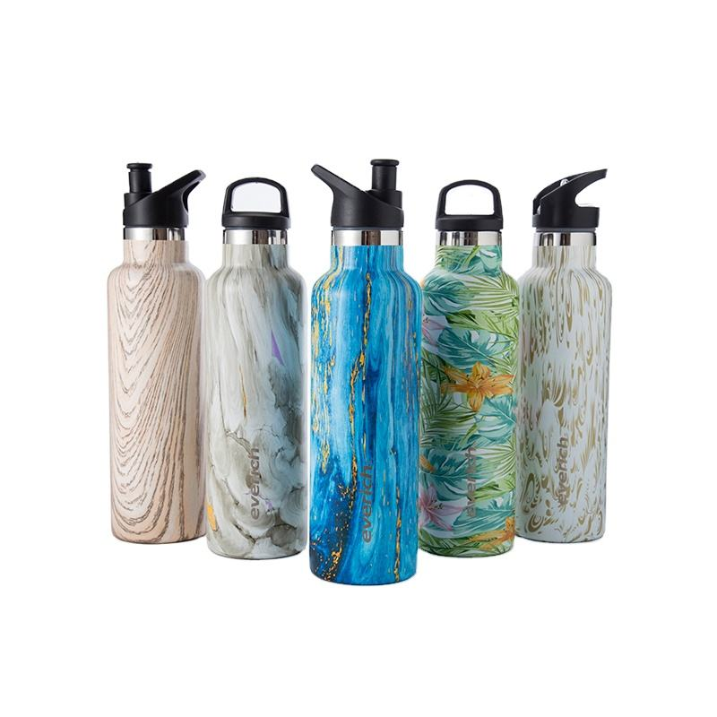 Everich private label Insulated Double Wall Vacuum standard mouth Stainless Steel Water bottle