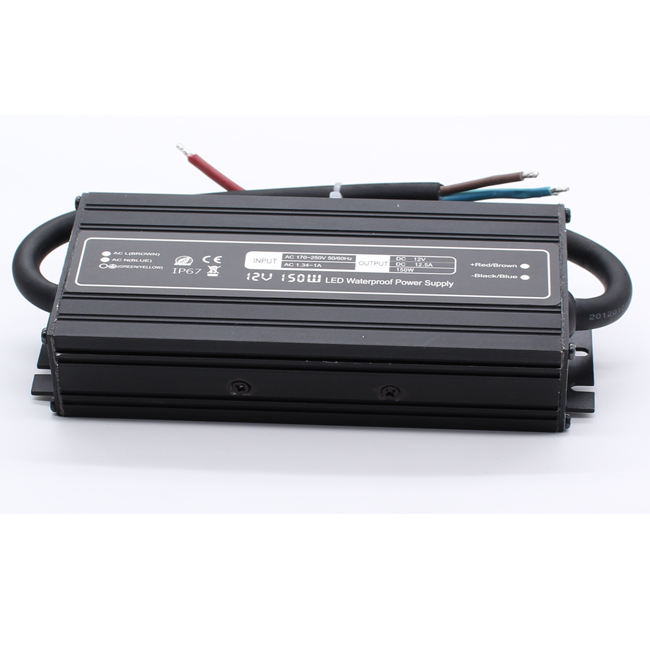 Tahan Air IP67 LED Driver 150W Power Supply untuk Lampu Signifikan Baru 12V 12.5A PFC 100 W 240 W 24 V 200 W