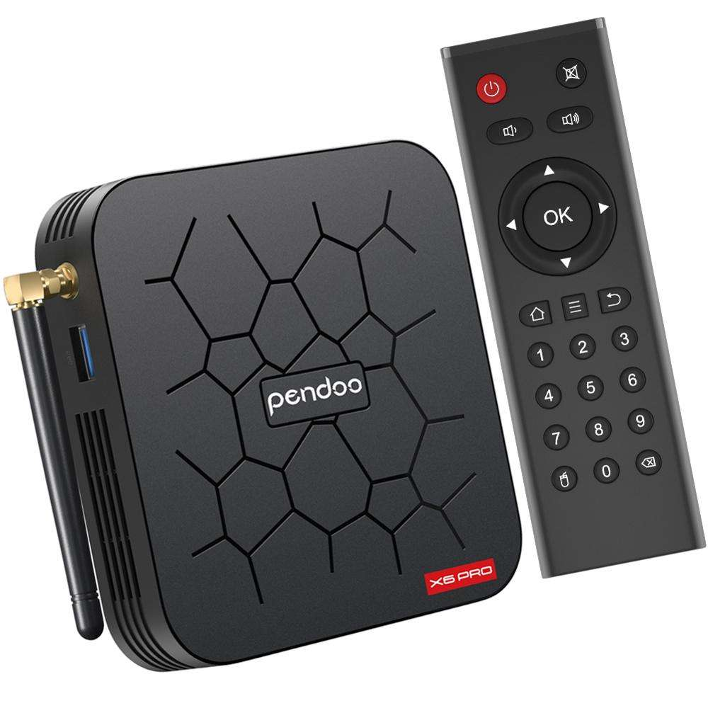 Android 9,0 tv box <span class=keywords><strong>allwinner</strong></span> h6 Pendoo x6 pro 2GB 16GB 2,4 GHz WiFi android tv box