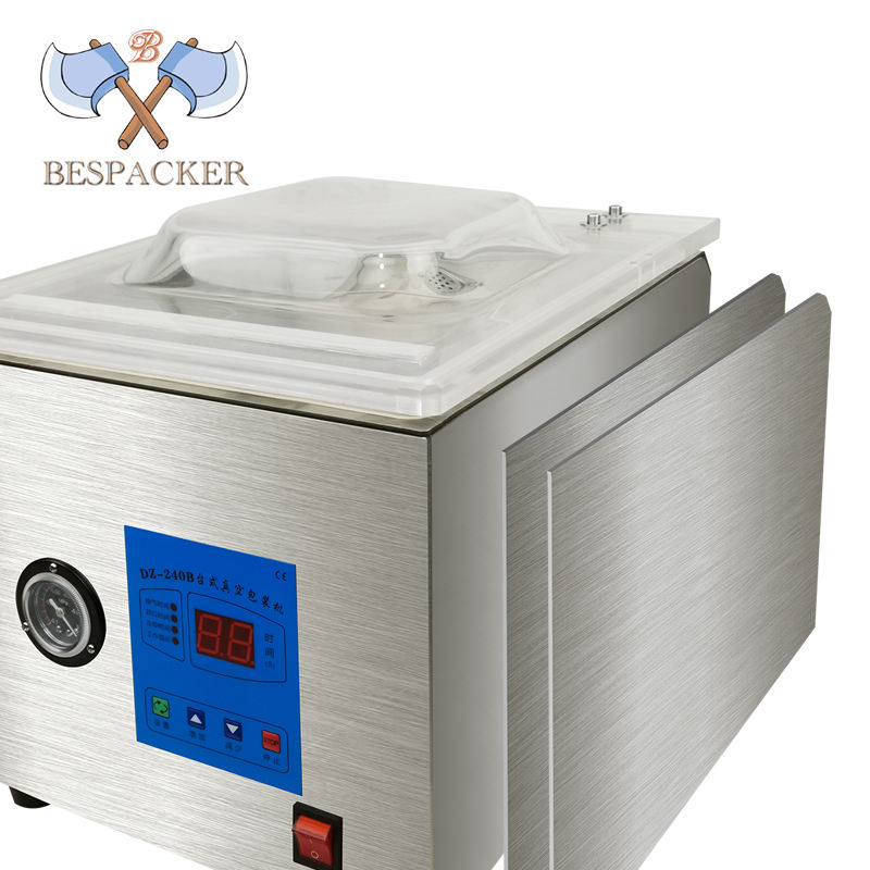 Bespacker DZ-260C 2020 new table top single chamber vacuum packing machine for apparel food