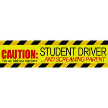 Student driver custom PVC vehicle magnetic reflective magnet car sticker decals sign for bumper