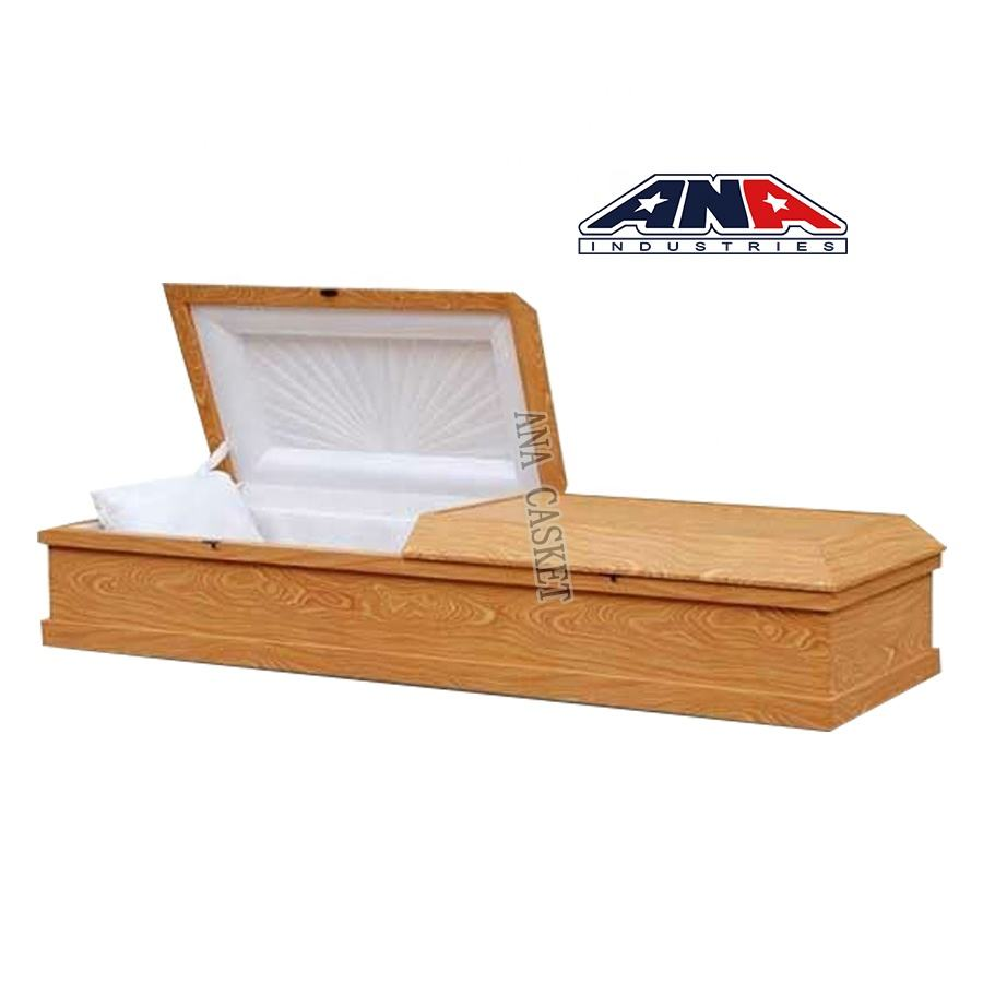 Funeral equipment China wuxi wholesale cardboard wooden wood Cremation Casket