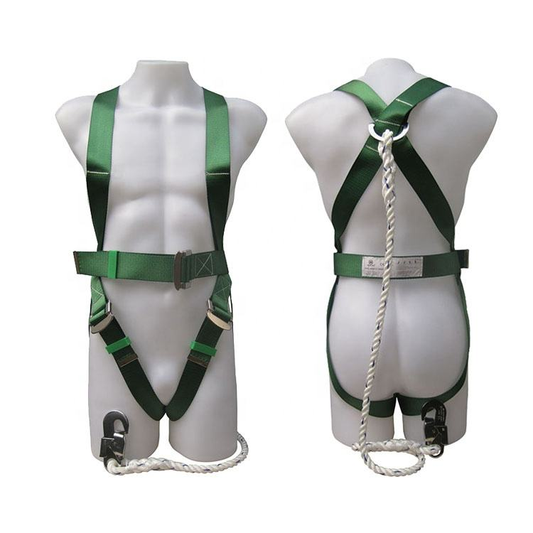 100% polyester safety harness with 1 stamping D-RING and 3 adjustable points for user's convenience