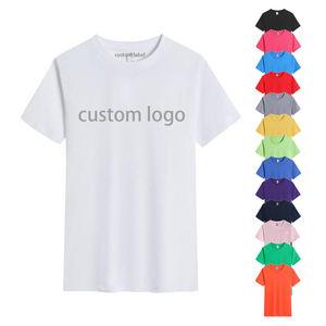 Custom print oem 100% pure cotton 180gsm white black blank plain tshirt short sleeve unisex men's women's t shirt for men women