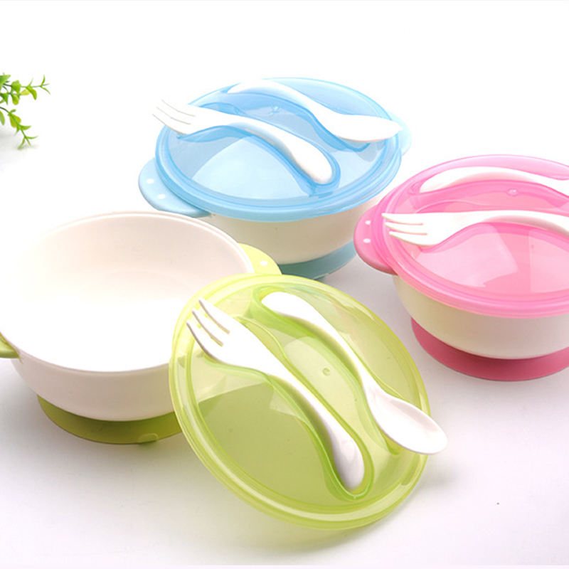 2020 hot new products unbreakable baby feeding products suction bowl with spoon fork set for kids