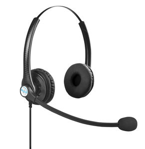 comfortable binaural over ear A26 call center headphone customer service OEM headset with mic 3.5mm 2.5mm USB rj qd