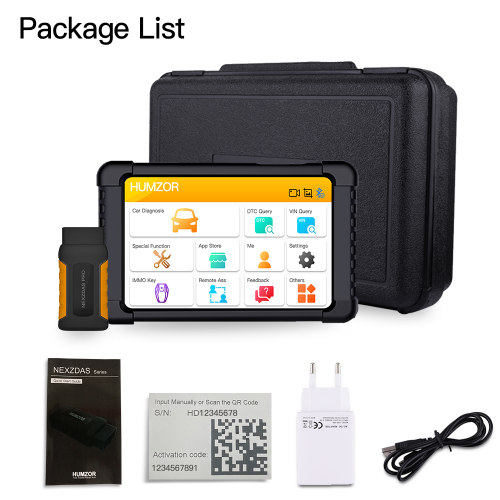 Humzor NexzDAS Pro Bluetooth 10inch Tablet Full System Auto OBD2 Scanner with IMMO/ABS/EPB/SAS/DPF/Oil Reset Diagnostic +tools