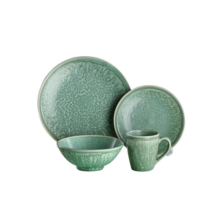 Avanzada de China de hueso vajilla juegos de cena platos de cerámica conjuntos de vajilla cuencos de sopa con taza