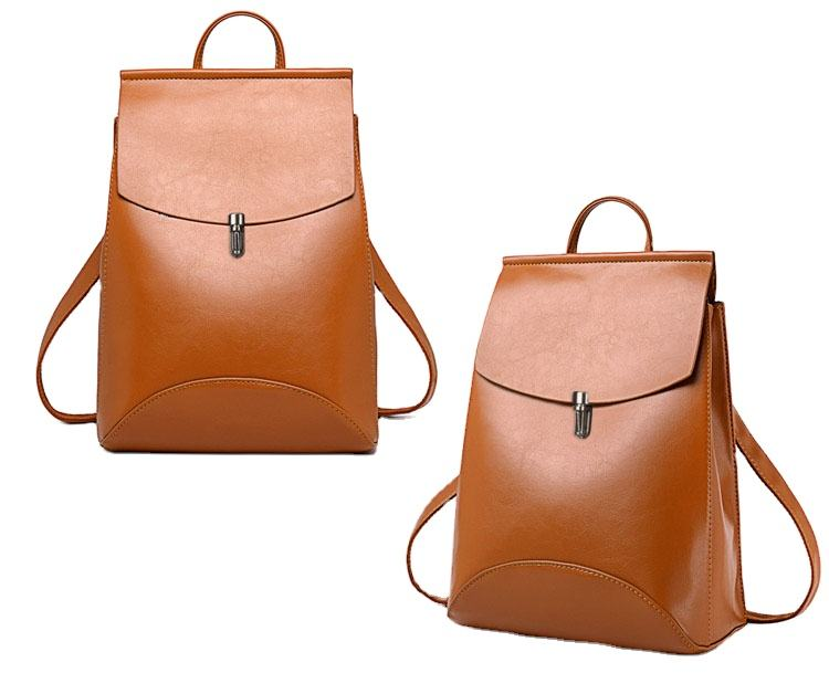PU Leather Backpack for Girls School Bag Simplicity Fashion Style Backpack Sac