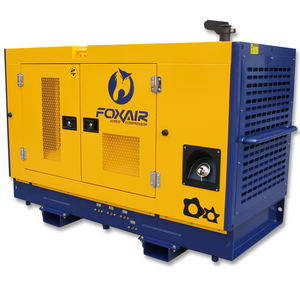 heavy duty industrial 375 CFM 10 bar air compressor diesel screw compressor for sale