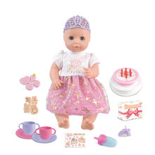 2019 hot sale luxury birthday cake toy 16 inch princess baby doll set for kids