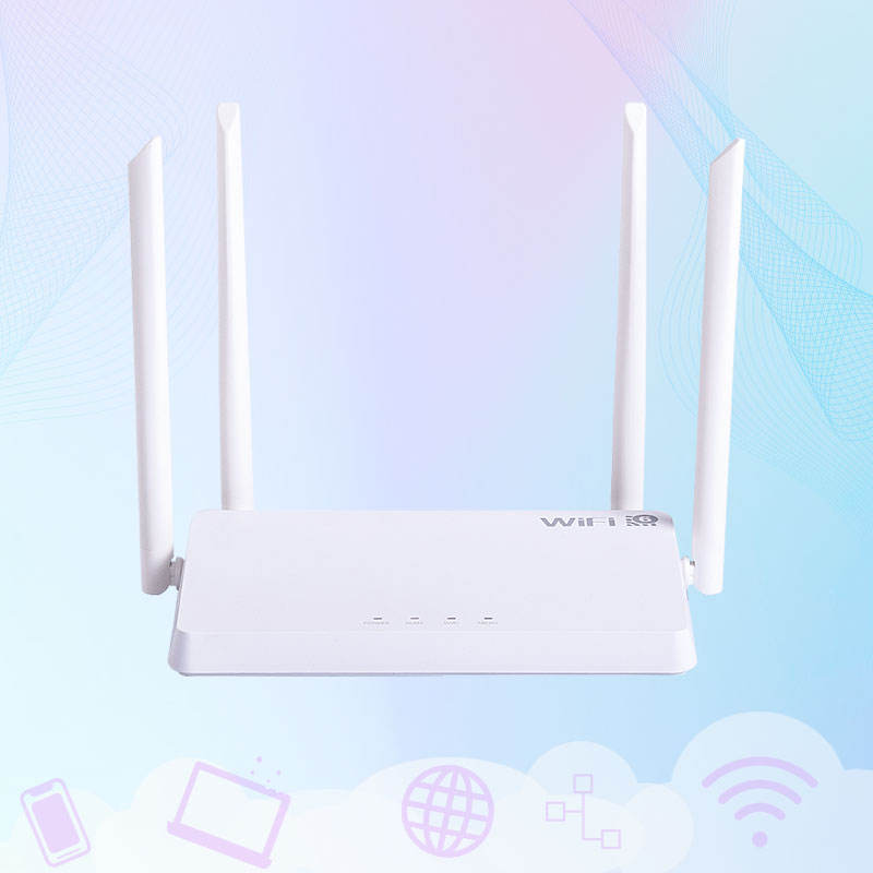 High Performance Ax1800 Dual Band Gigabit 4 Antennas 1800Mbps Wi-Fi 6 Mesh Wireless Routers Wifi Router