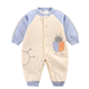 Cartoon newborn clip cotton one-piece suit thin cotton creeper baby plus cotton out warm Romper