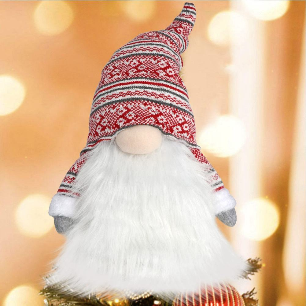 2020 Custom navidad Christmas Decoration Gnome Christmas Tree Topper Decor