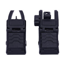 Tactical Military Arms Gear Gun Parts, AR 15 Backup Folding Sights Rapid Transition BUIS Front and Rear Sights Set