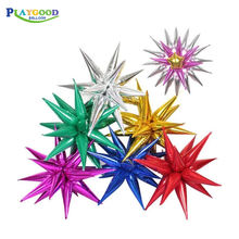 Custom Party Decorations Balloon Solid Explosion Decorations Star Balloon Small Water Droplets Foil Balloons