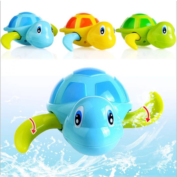 New designs kid play wind up plastic turtle bath toy