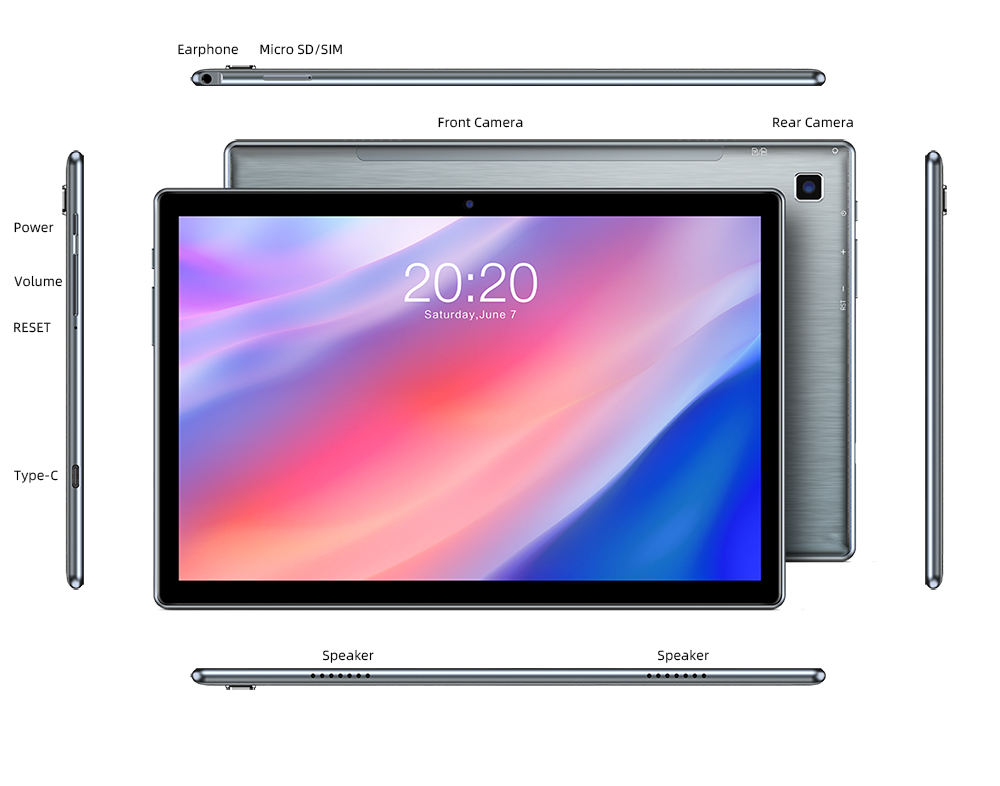 Mới Nhất Teclast P20HD Tablet Android 10 Tablets PC 4 Gam LTE 10.1 Inch 4GB RAM 64GB ROM 1920X1200 SC9863A Octa Core Tabletas GPS