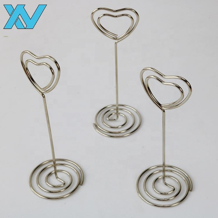 Metal Silver color Lovely Heart design wire Memo clip. Paper clip. Binder clip,promotional gift 85mm