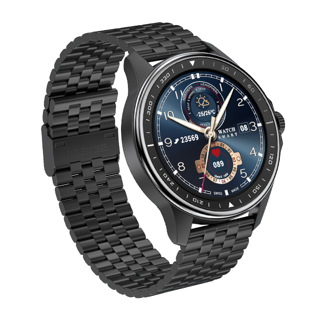 Custom Logo Smartwatch Levert 1.3 Inch Full <span class=keywords><strong>Touch</strong></span> Screen <span class=keywords><strong>Cirkel</strong></span> Wijzerplaat Smart Horloge SK3