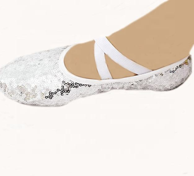 Customizable shoes sublimation nother dance shoes sequin ballet shoes