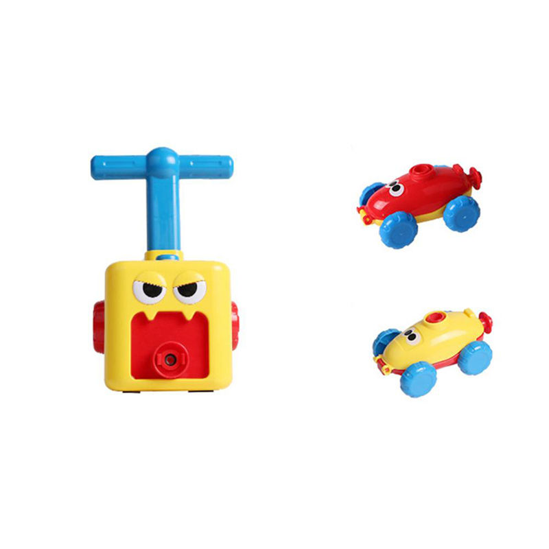 Puzzle Science Educational Small Balloon Powered Plastic Car Toy For Kids