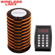 Free Logo Printing Wireless Guest Queue System Calling Restaurant Coaster Pager System for Restaurant