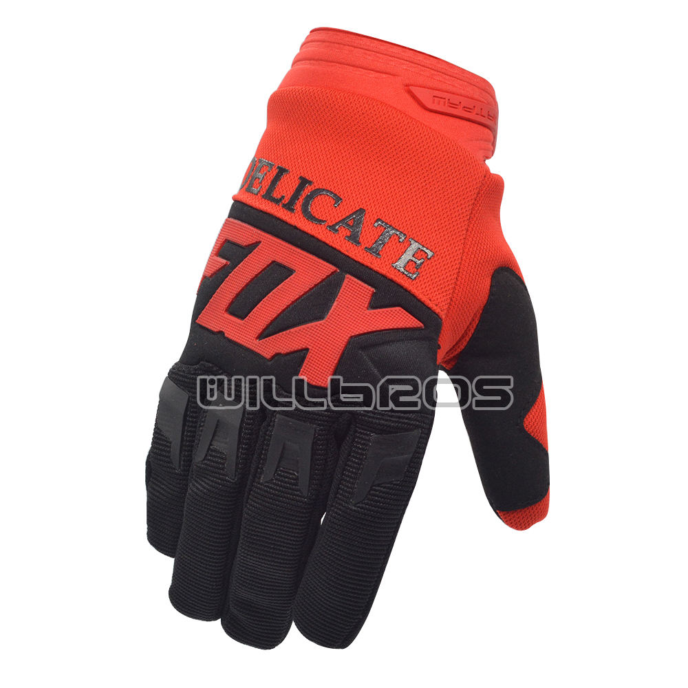 Delicate Fox Factory Custom Dirtpaw Gloves Enduro Motocross Bike Cycling MX Mountain Downhill Off Road Racing Glove