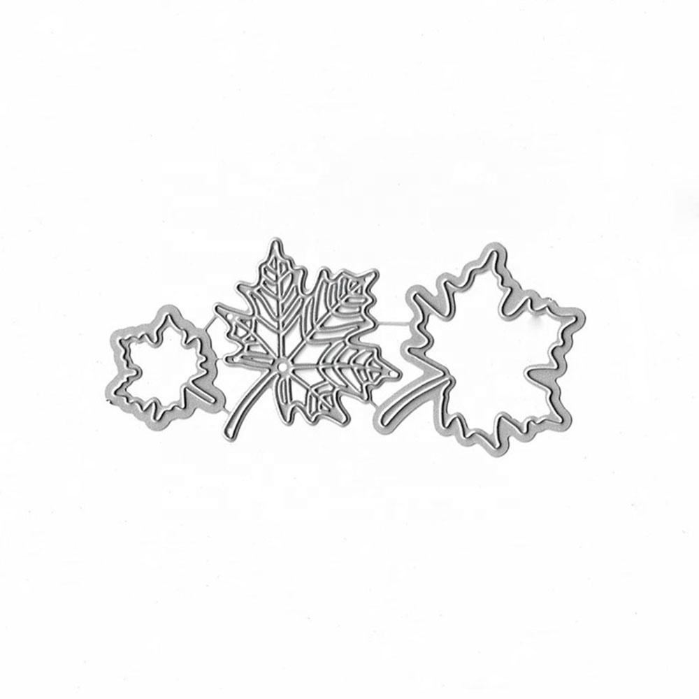 XY130 Maple Leaves Cutting Die for DIY Scrapbooking Embossing Handmade Photo Album Stencils Craft Cutting Dies