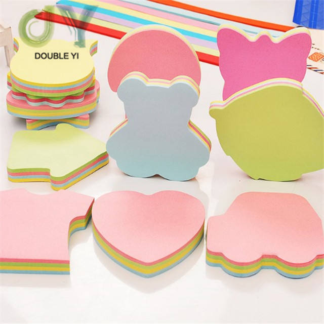 customise unique shaped self-adhesive writing planner sticky note memo notes pad for office