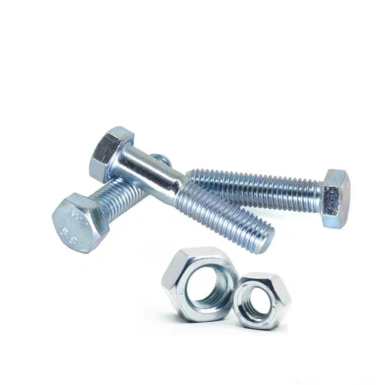 China Manufacture Hexagon Bolts And Nuts Galvanized Bolts Grade 8.8