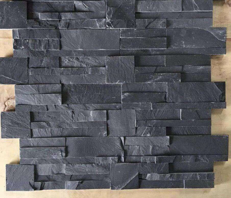 Exterior Wall Stone Cladding Stone Black slate culture stone tile