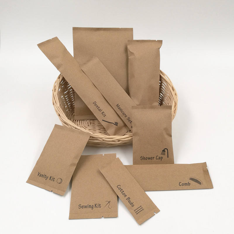 100% plastic free & biodegradable kraft recycled paper packaging for hotel amenities