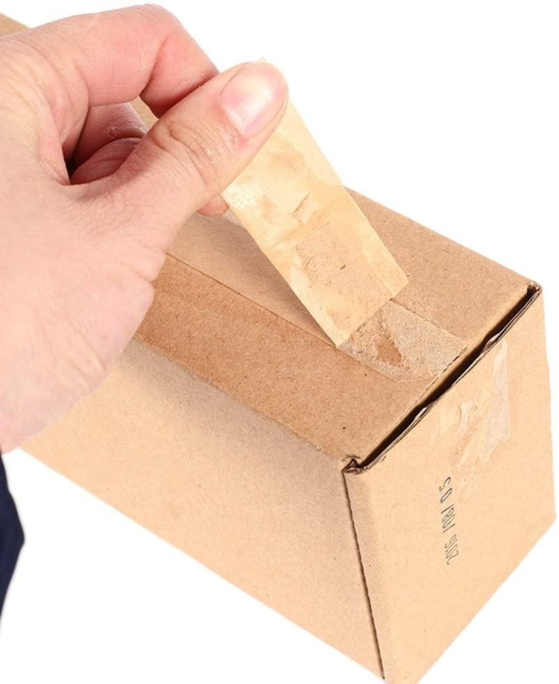 Eco friendly self adhesive logo custom kraft paper tape for carton sealing writable gummed tape