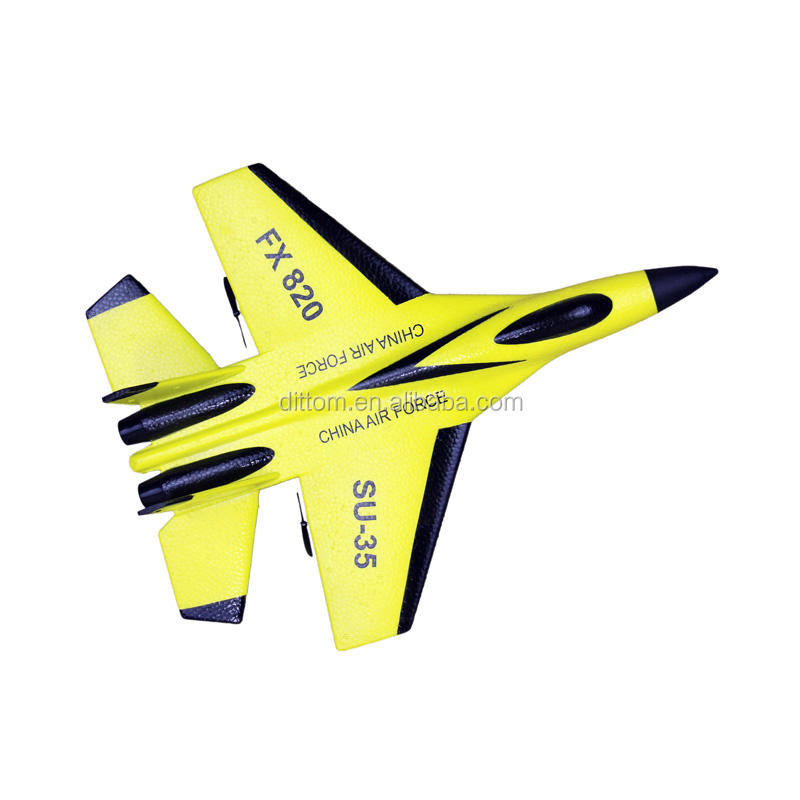 SU-35 Warplane Flybear FX-820 2.4G 2CH RC flying Fighter Glider