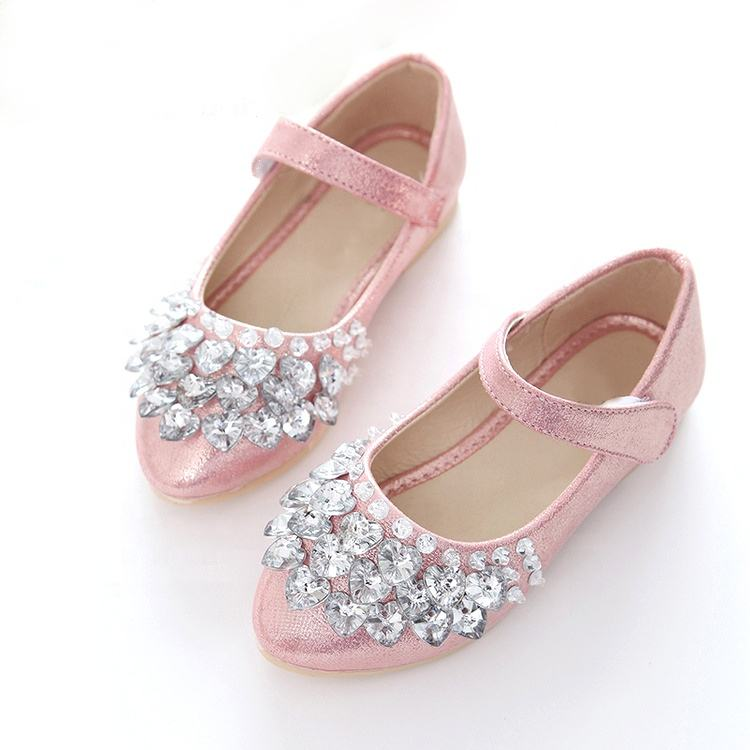 New Children Girls Princess Shoes Kids Rhinestone Party Dress Shoes