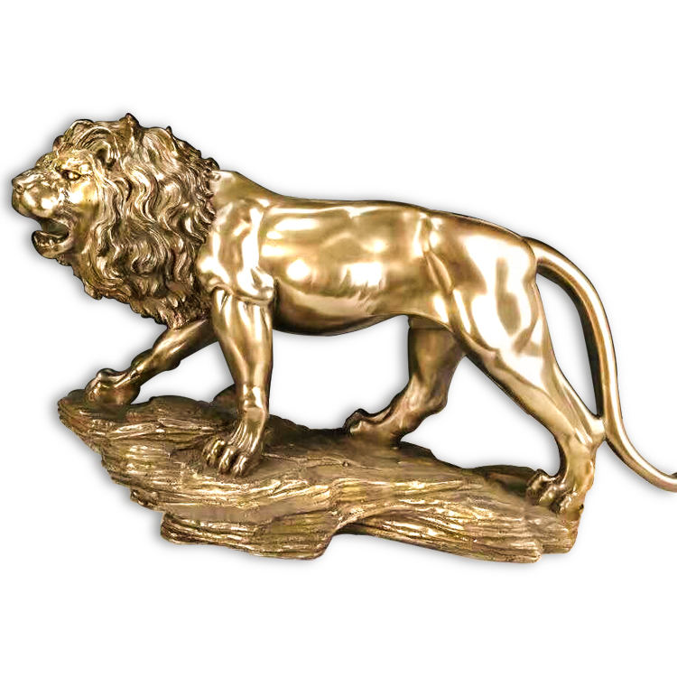 Imitate bronze brass material home decoration outdoor or in the front of the door lion resin statue