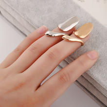 Zinc Alloy GOLD/Silver Jewelry Knuckle Adjustable Open Finger Women Nail Ring