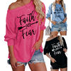 2020 New Design Fashion Fall Winter Casual Ladies Printed Long Sleeve T Shirts Women Tops