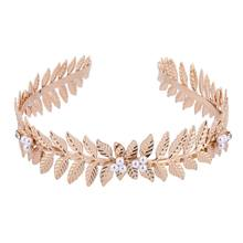 HB105A Latest Pearl Leaf Bride Tiaras party Headband Hairband Wedding Hair Accessories Dainty Hair Crown Head Dress Band