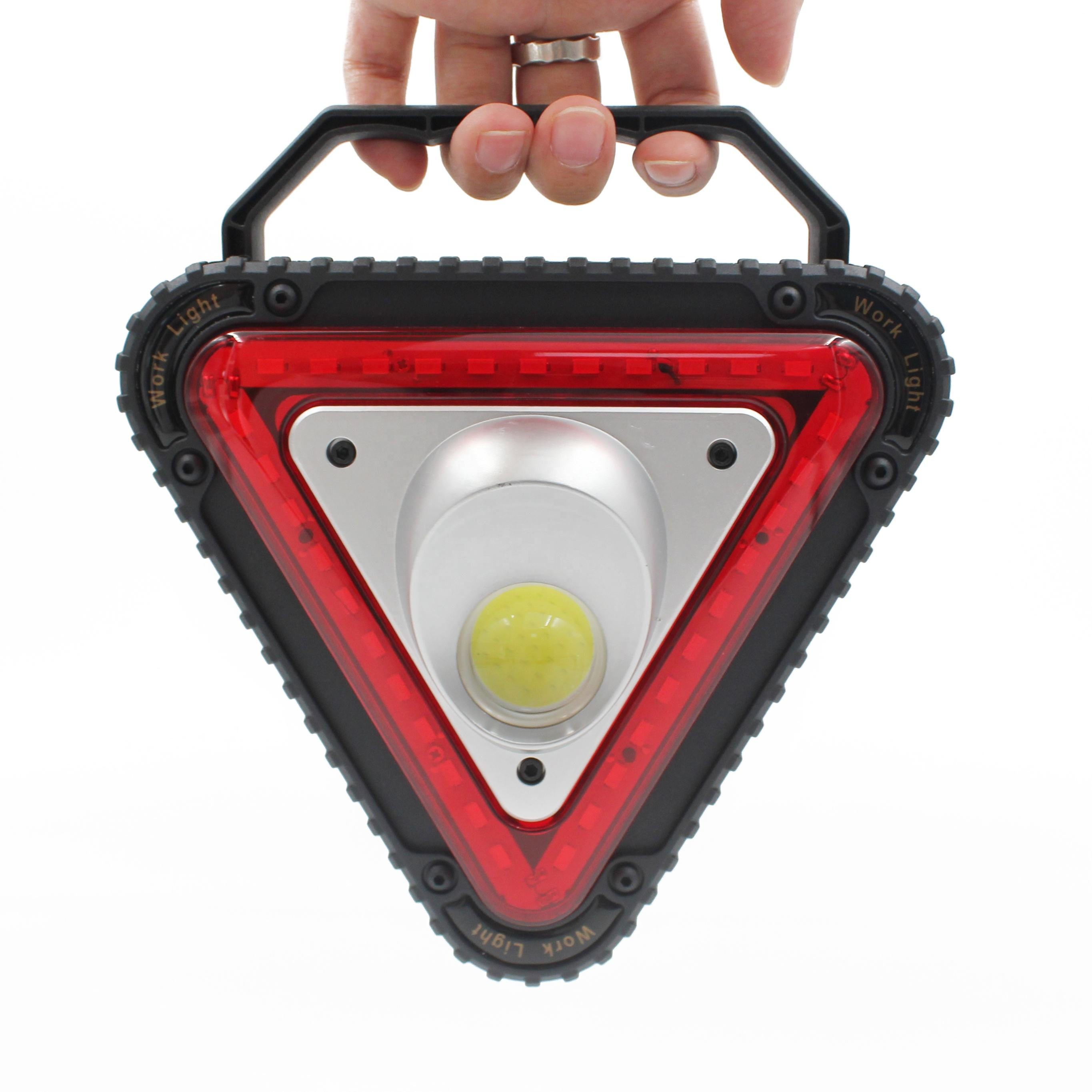 Portable outdoor 10w cob Rechargeable Car Emergency floodlight road hazard LED Warning Light