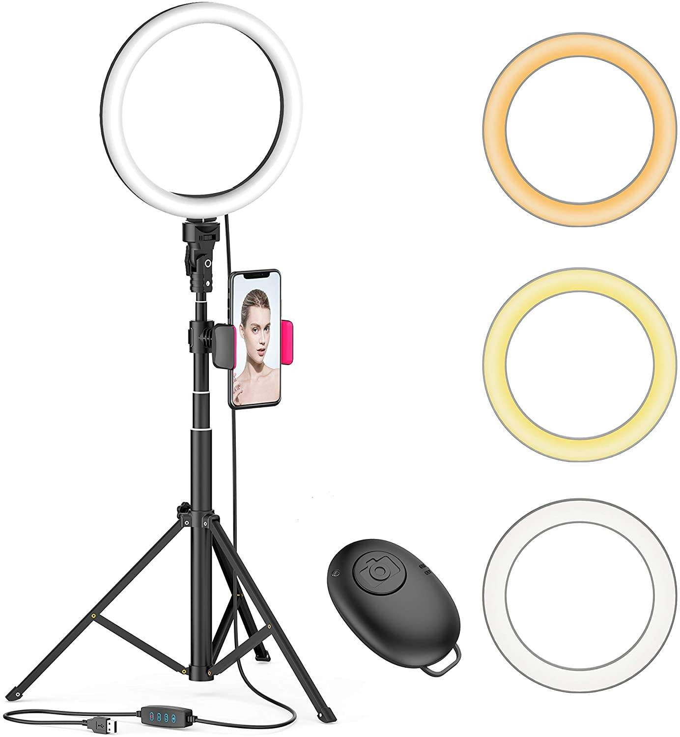 10 inch Stand Ring Light Mobile Phone Clip Live Stream Ring Light With Tripod Stand