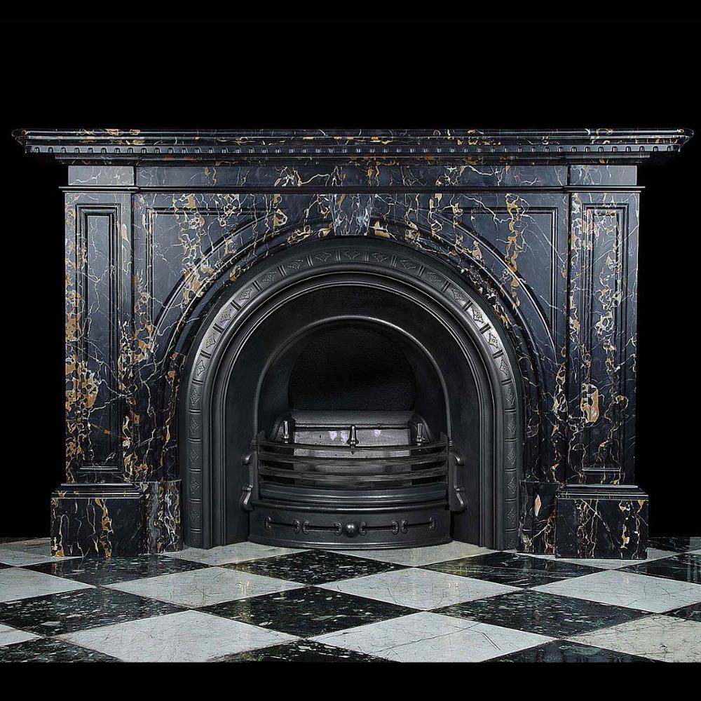 Black Marble Carved White Natural Stone Marble Fireplace Mantle Price