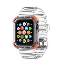 Clear Watch Strap Band Fashionable Sport Soft tpu Watch Band For Apple Watch