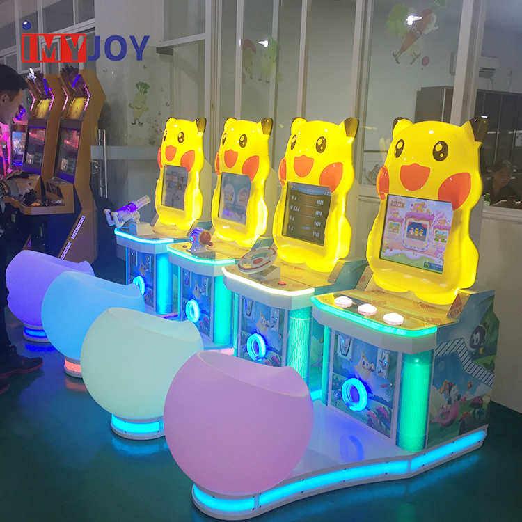 Nuovi giochi arcade gun shooter + bambini gettoni arcade machine gara video gioco arcade